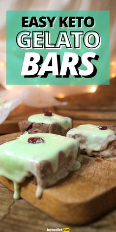 Keto Gelato Bars (Low Carb Ice Cream) Gelato Bar, Snack Recipes, Snacks, Healthy Recipes, Mint Frosting, Low Carb Ice Cream, Frozen Chocolate, Ketogenic Diet For Beginners, Nutrition Tips