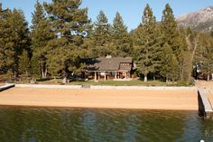 Designed by renowned architect Julia Morgan, this classic 2 acre Lake Tahoe estate is great for company retreats or families in need of a deluxe escape, Twin Pines is a dream come true for any visitor to South Lake Tahoe. Moon Over Water, Edgewood Tahoe, San Simeon, South Lake Tahoe, Cabins And Cottages, Lodges, Acre, Families, Twin