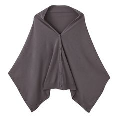 Multi-cape from MUJI Can be worn in different ways. They can be worn as a poncho, shrug, sleeves or snood by buttoning the sides together.