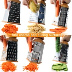 1Easylife HG-0687 Stainless Steel 6-sided Box Grater, Cheese Grater, Vegetable Grater, Slicer