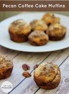 Pecan Coffee Cake Muffins -easy to make and perfect to eat when you are craving a sweet treat.