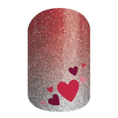 Hearts Aplenty | Jamberry.Celebrate Valentine's Day with this sparkle ombre wrap for subtle look that will have everyone swooning. abettineski.jamberry.com