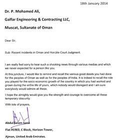 Support letter from Abdul Salam sanil for Dr P Mohamed Ali http://supportdrpmohamedali.com/abdul-salam-sanils-support-dr-p-mohamed-ali-galfar/