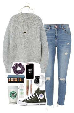 """""""Untitled #404"""" by valerienwashington ❤ liked on Polyvore featuring River Island, MANGO, Converse, Kendra Scott, Topshop, Apple, Mario Badescu Skin Care, Casetify, Anastasia Beverly Hills and Too Faced Cosmetics"""