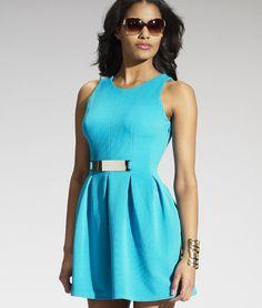 Szexi, medence kék ruha, melegebb napokra