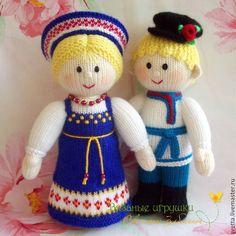 """Купить """"Иван да Марья"""" вязаные куклы - вязаная кукла, кукла, куколка, подарок, оригинальный подарок ♡"""