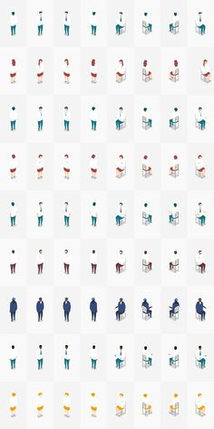 UPDATE : Sample screen is added which is composed of Isometric Office Pack. (Format AI) --- Overview The Isometric Office Pack provides more than a hundred Architecture People, Architecture Graphics, Architecture Drawings, People Illustration, Flat Illustration, Character Illustration, Isometric Art, Isometric Design, Planer Layout