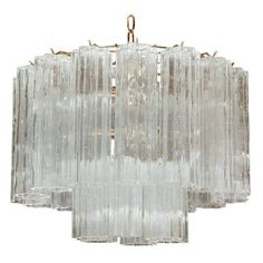 Murano Glass Chandelier Attributed to Paolo Venini | 1stdibs.com HEIGHT:15 in. (38 cm) DIAMETER:18 in. (46 cm)
