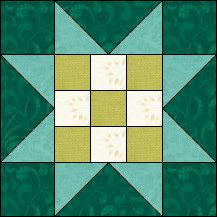 Block of Day for February 08, 2017 - Nine Patch Star strip piecing-The pattern may be downloaded until: Tuesday, February 28, 2017.
