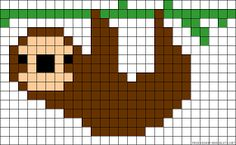 Image result for sloth hama bead pattern