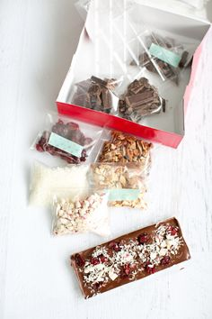 Make your own chocolate candy bar kit. Fun edible gift to make and receive!