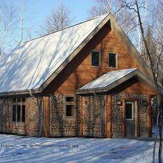 Cordwood house ... Like the log corners