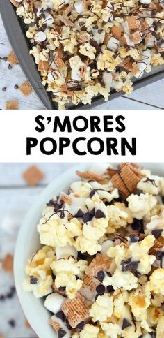 Smores Popcorn Recipe Perfect for family game night! Check out the recipe and Smores Popcorn Recipe Perfect for family game night! Check out the recipe and Köstliche Desserts, Delicious Desserts, Yummy Food, The New Yorker, Game Night Snacks, Yummy Treats, Sweet Treats, Smores Dessert, Snack Recipes