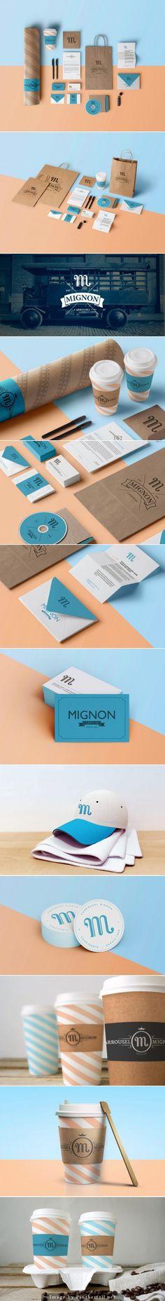 Cool Brand Identity Design. Mignon. #branding #brandidentity [http://www.pinterest.com/alfredchong/]