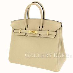 エルメス バーキン25 cm ハンドバッグ トレンチ×ゴールド金具 トゴ A刻印 HERMES Birkin バッグ