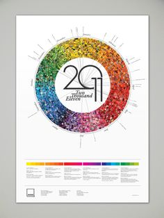 Awesome Pantone Calendar from Behance