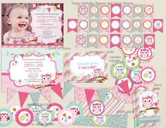 Look Who's turning One Owl birthday by RachellesPrintables on Etsy, $27.00