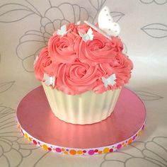 Giant Cupcake Shell Tutorial on Cake Central
