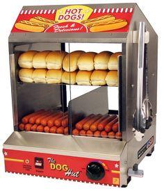 Amazon.com: The Dog Hut Hotdog Steamer and Merchandiser: Sports & Outdoors