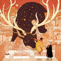 """A Happy Nortons Holiday! Victo Ngai """"The Sighting, The Search, The Meeting: A Romance"""" is a sequential holidays card commissioned by Mr. Peter Norton and his wife Ms. Gwen Hill - a whimsical story to..."""