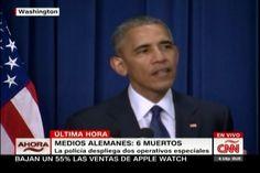 Barack Obama Sostiene Un Discurso En Relación A Las Víctimas Del Atentado En Un Centro Comercial De Alemania
