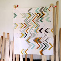 "Stunningly simple and beautiful ""Somewhat Herringbone Quilt"" by Dorie Schwarz of Tumbling Blocks."