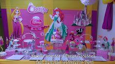 Decoración de princesas, con presentación de mesa.
