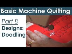 ▶ Doodling Getting Started Free Motion Quilting and Machine Quilting - YouTube
