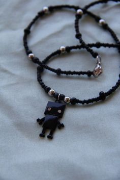 Robot Friend Necklace  Black by BriarJubileeBoutique on Etsy, $7.00