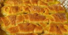 2 whole large peaches ( you can use canned peaches as well if you don't have fresh)  2 8 oz cans crescent rolls  2 stic...