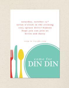 Dinner Party Invitation by prettygirlshop on Etsy, $21.00