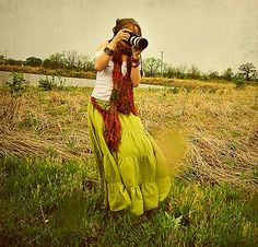 Do what we love: Outdoors, Photography and Unique Fashion Accessory Scarves. #field #green #red