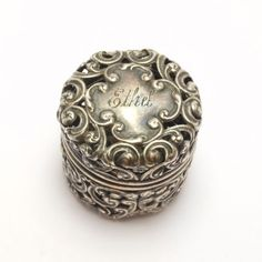 Sterling Victorian Unger Pierced Hinged Thimble Holder | eBay