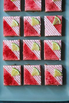 Lime Cinnamon Cookie Bars with Strawberry-Hibiscus Lime Buttercream and Tequila Drizzle Strawberry Tequila, Freeze Dried Strawberries, Pink Milk, Cinnamon Cookies, Cookies Ingredients, Hibiscus Flowers, Cookie Bars, Lime, Sweets