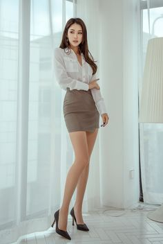 Women With Beautiful Legs, Beautiful Asian Girls, Korean Beauty Girls, Asian Lingerie, Asian Fashion, Sexy Outfits, Asian Woman, Beauty Women, Fashion Models