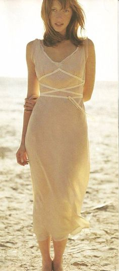 06023b16615b4 Rare Anthropologie 2003 Odille Athena Dress 2 XS Goddess Pale Peach Midi  Sexy #Anthropologie #