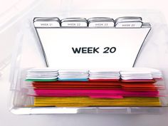"""Index Card Organizer: You can """"pull cards"""" from the parts of speech section, and you can organize them by week! That way, you are prepared for the week ahead!"""