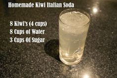 Homemade Kiwi Italian Soda