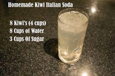 Homemade Kiwi Italian Soda