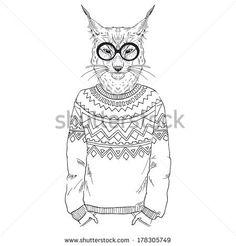 hipster bobcat - Google Search
