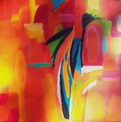 """Heat Wave I"" Original Jane Robinson abstract art, 24x24"
