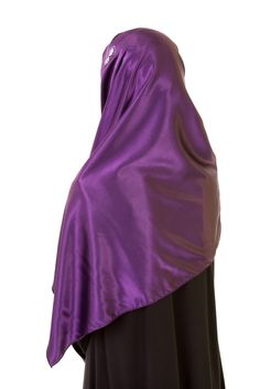 Plum Satin Hijab - this one would be great for PURPLE HIJAB DAY!!!