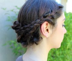 DIY Wedding Hair : DIY Easy Braided Updo