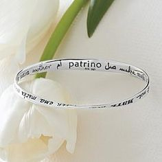 Bracelet that says mom in many languages