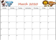 March 2020 Calendar Pdf Free For Daily Use   Free Printable inside Blank Calendar Template For Kids Free Printable Calendar Templates, Printable Calendar 2020, Excel Calendar, Calendar March, Monthly Calendar Template, Holiday Calendar, Free Printables, Templates Free, Business Calendar