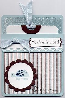 invitation tucked into a cute pocket envelope...juliesstampjournal