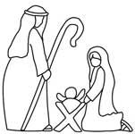 Printable nativity outlined in black and white. Use the nativity outline for a coloring page, Christmas activities or crafts. Outdoor Nativity Scene, Christmas Nativity Scene, Christmas Wood, Christmas Holidays, Nativity Scenes, Christmas Things, Christmas Ideas, Xmas, Christmas Applique