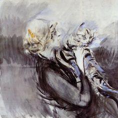 artiebagagli:  Giovanni Boldini - Donna con gatto