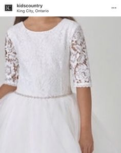King City, Hit The Floors, Communion Dresses, Dresses With Sleeves, Country, Lace, Kids, Collection, Women
