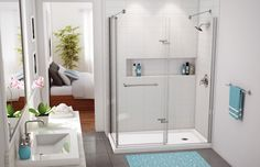 MAAX - Reveal Corner Shower Door  www.maax.com